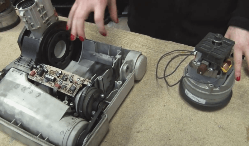 How to repair the engine/pump of a vacuum cleaner